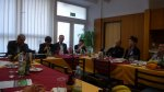 Diskussionsrunde in der Mensa der Universität Budweis